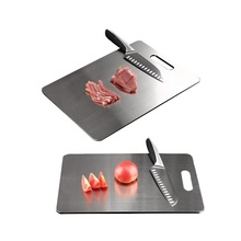 Custom Stainless Steel Cutting 큰 Cutting Board Oil Black