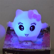 Hot sale pvc kitty /led small night light /colorful children toy