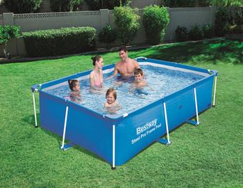 Bestway 7ft 8ft 9ft 13ft Steel Pro Rectangular Frame Swimming Pool ...