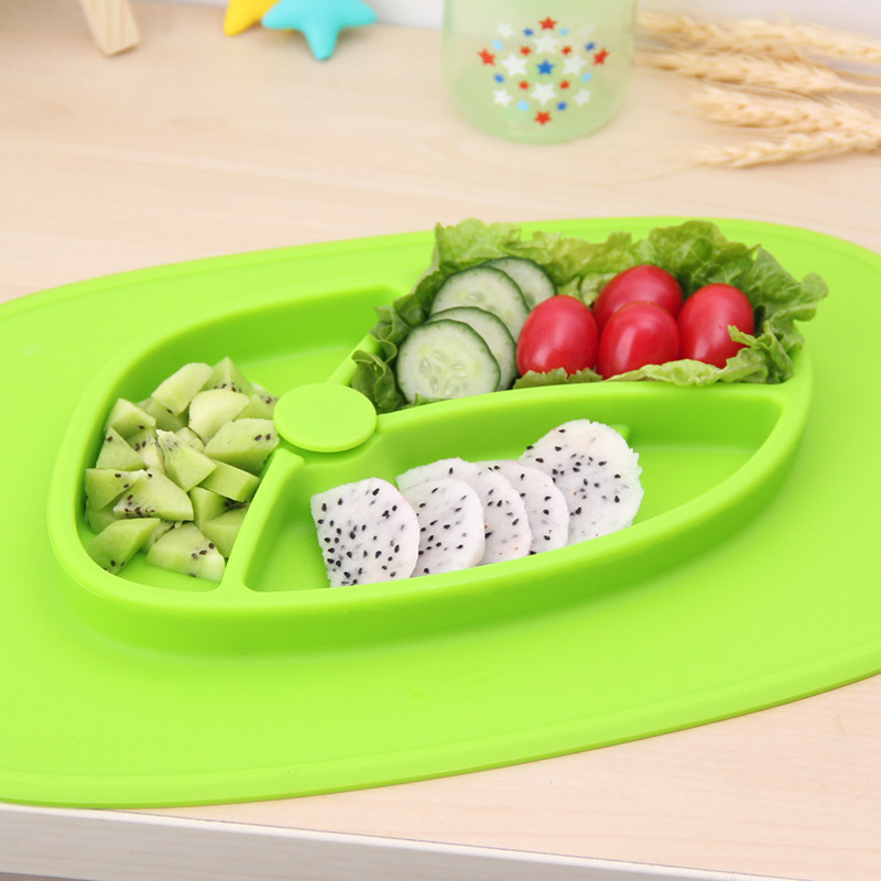 Reusable Heat-resistant Silicone Food Fruit Plate Durable BPA Free Non Slip Baby Placemat