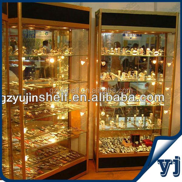 Hoek Vitrinekast Glas.Titanium Hoek Glazen Vitrinekast Muurbevestiging Glazen Vitrinekast