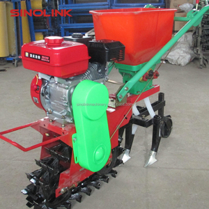 Manual Corn Maize Peanut Beans Hand Operating Seeder with 7.5HP Gas Engine