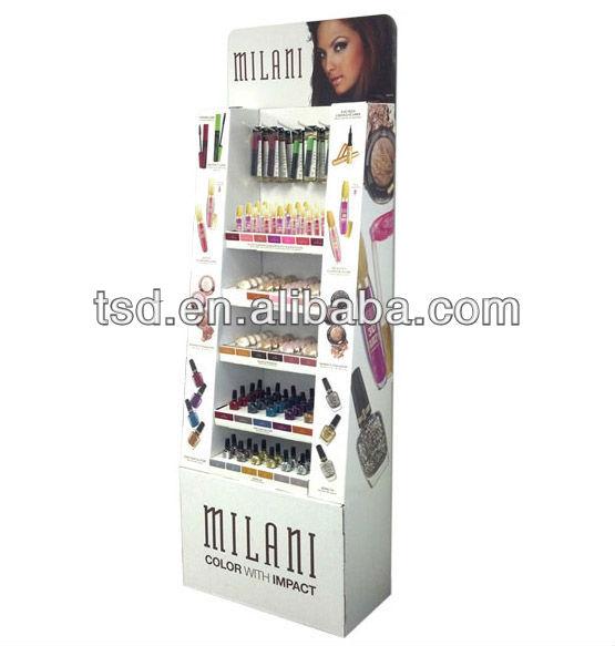 Tsd C442 Custom Design Kiosk Pop Floor Cardboard Nail Polish Stand Opi