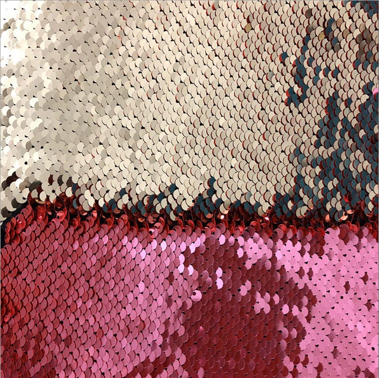Mermaid Sequin Textile Cloth Material Flip Two-tone Reversible Sequin Embroidery <strong>Fabric</strong>