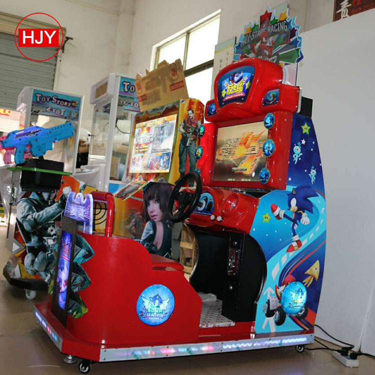 The factory sells 32 inch double TT motor game machine, attack motorcycle, big video game city racing machine
