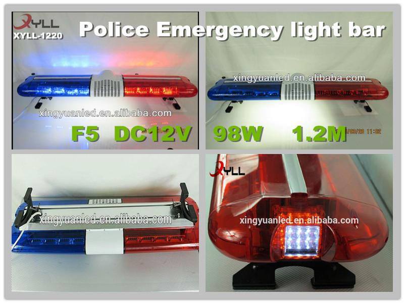 Siren Speaker Police Warning Light Bar Emergency Led Car Lights ...