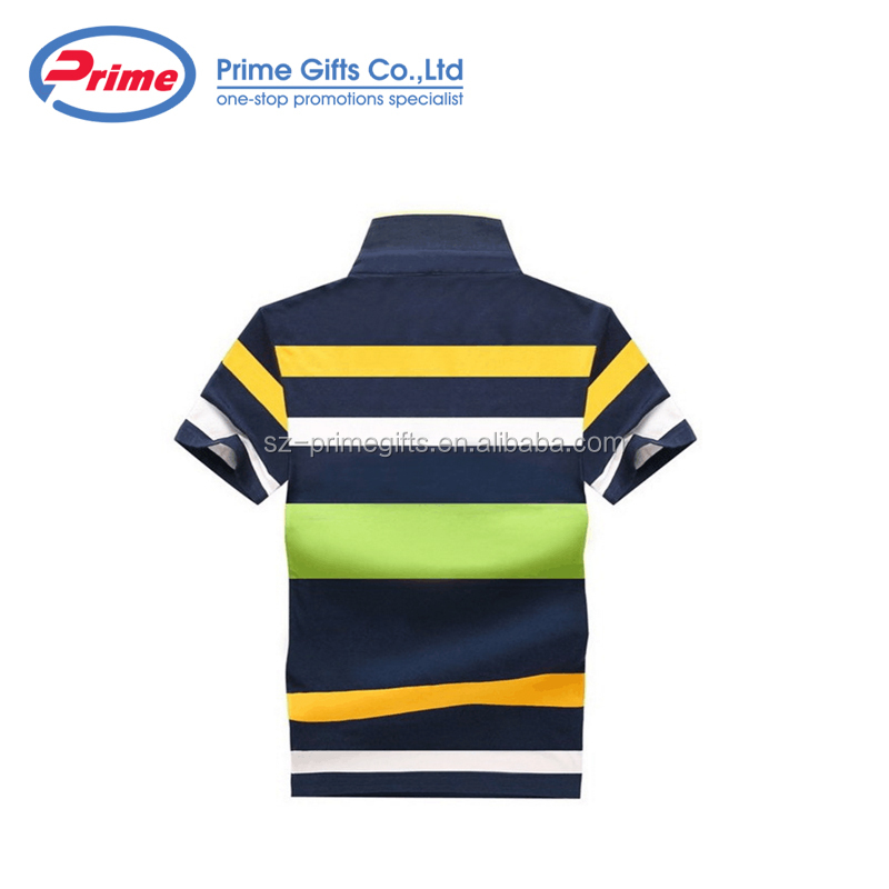 Top Quality Men Strip T Shirt with Your Company Logo