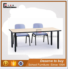double school desk and school chair, mfc&steel material bench and table