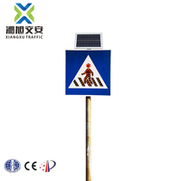 2017 New arrival Solar flashing led road sign boards for highway with ISO