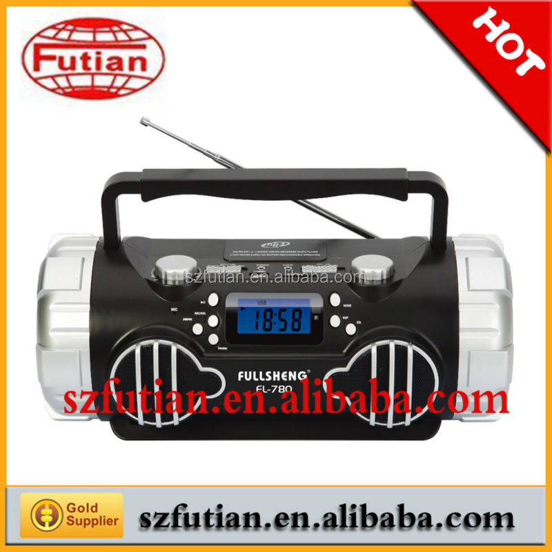 FM Radio with USB/SD Funcation,with LCD digital display , Rechargeable Battery,LCD Display and Recording