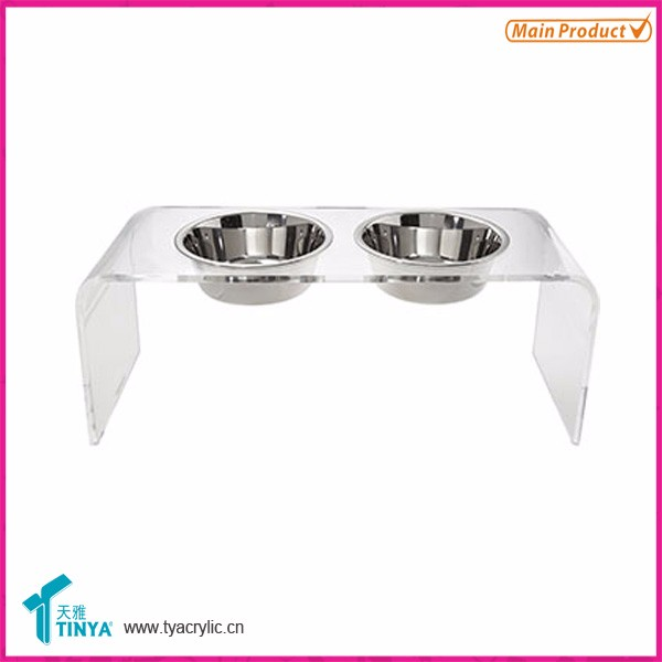 Acrylic pet feeder luxury dog feeder durable cat feeder