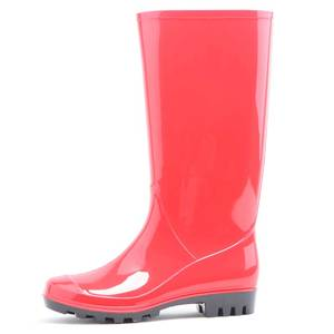 normal style of women pvc rain boots middle wellingtons