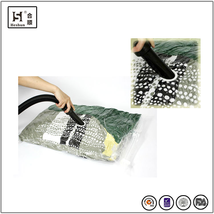 PA+PE vacuum space bag pump for clothes and bedding