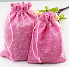 100 Natural Burlap Bags Wholesale Hemp Jute Hessian Drawstring Sack Small Wedding Favor Gift Straw Jute Bag
