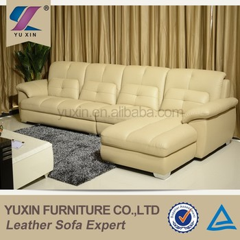 Cream 4 Seater Leather Sofa In Therapy