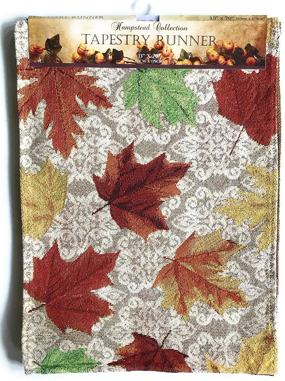 Casual Cotton Fall Table Runners 72 Inch x 13 Twisted Anchor Trading Co Fall Table Runner Tapestry Style with Sparkle Thread Harvest Pumpkin Runner