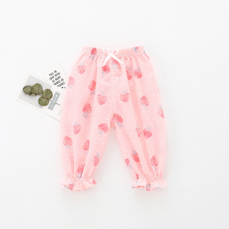 2019 Latest Design skin protect summer Baby Girls Fashion wide leg cotton Pants