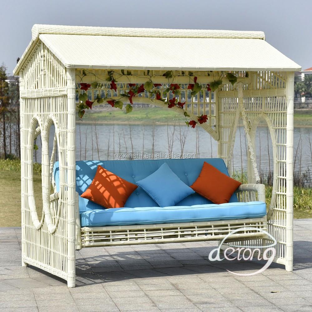Heißer Verkauf Derong Gartenmöbel Schaukel Garten Terrasse Luxus Schaukel  Bett Billig Eisen Schaukel Mit Mosquitoo Net