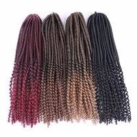 HARMONY Curly-end Synthetic Crochet Soft Dreadlocks Braids Faux Locs Twist Hair Extensions with 20inch 24 Strands 100grams/pack