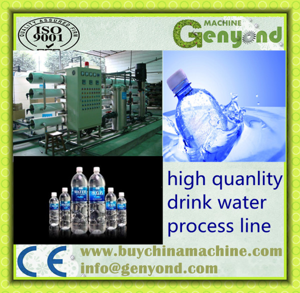 Whole Automatc Drinking Pure Water Processing Line or Plant