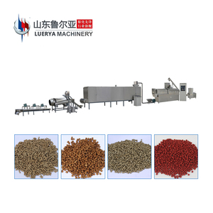 Most Popular automatic fish food processing machine aquarium pet line twin screw extruder high quality