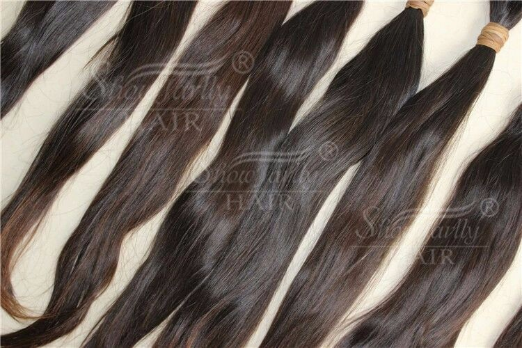 Donor raw hair bulk eurasian bulk hair extension 100 virgin unprocessed real natural no chemical no steamed cuticle aligned hair