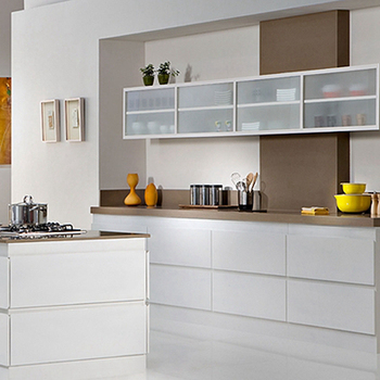White High Gloss Laminate Kitchen Cabinets Lacquer Doors ...