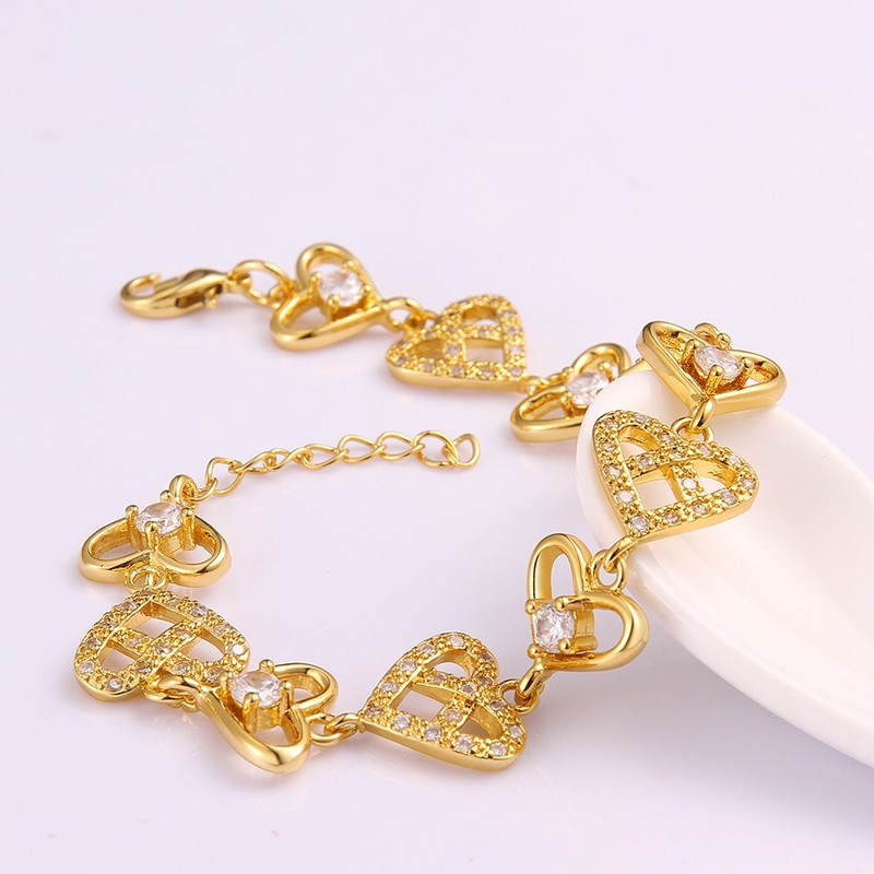 Wholesale Heart Design Different Styles Gold Plated Brass ...