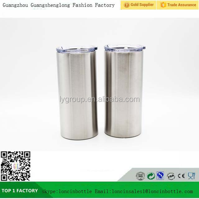 20 oz Vacuum Insulated Skinny tumbler,stainless steel straw cup tumbler,party water tumbler