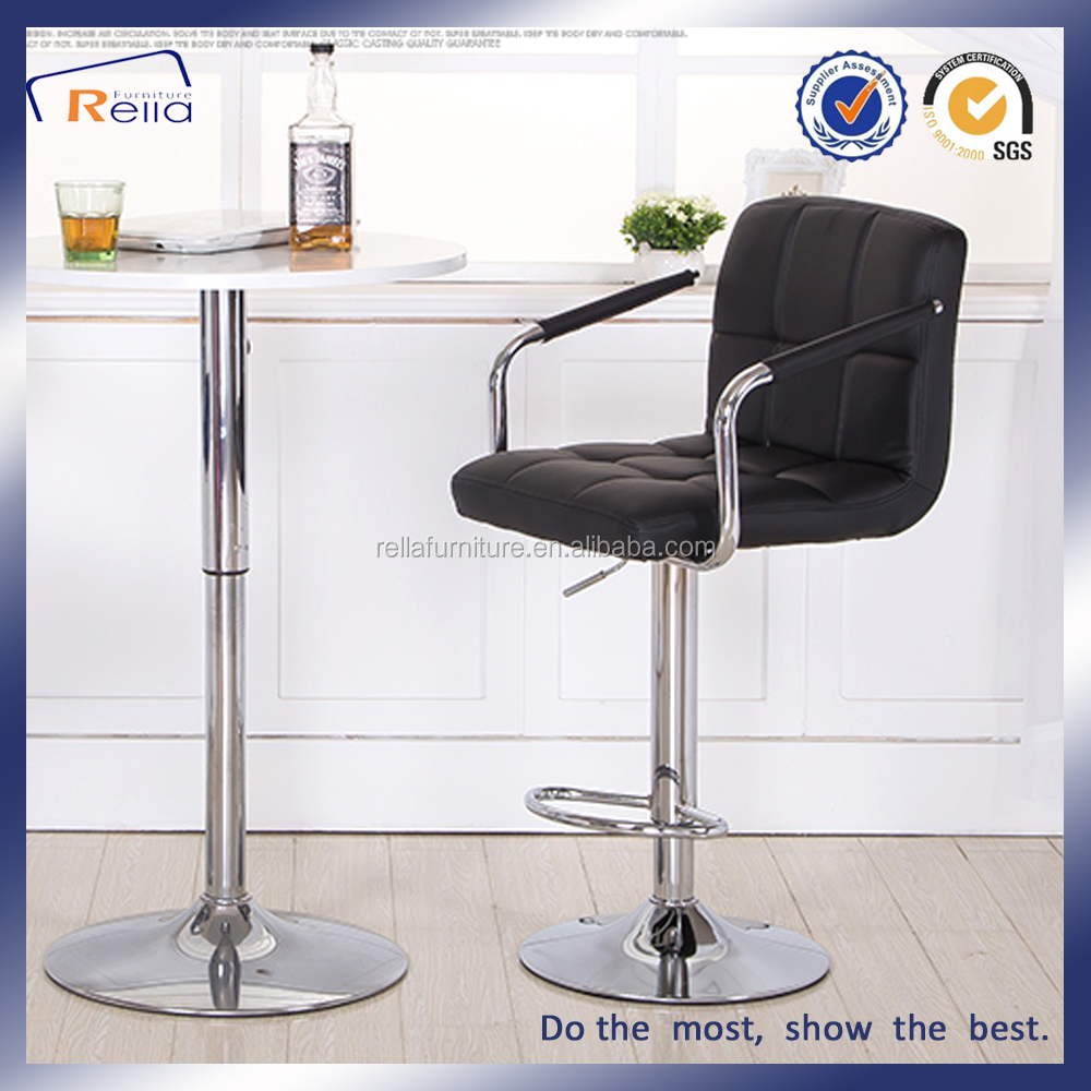 On sale cheap used bar stool with metal armrest