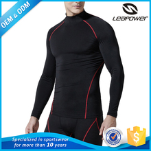 Custom compression shirt men top quality quick dry sport long sleeve men t shirt