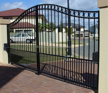Industry Steel House Gate Designs / Garden Passage Gate For Sale / Double  Gate