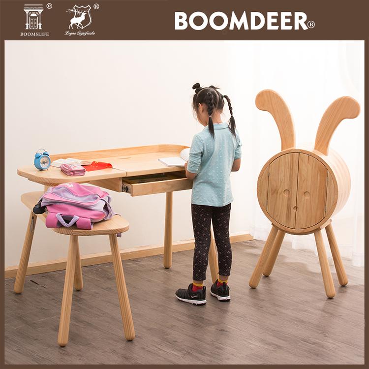 product-Living Room Wood Foldable High Chair Baby Feeding Animal Stools Baby Chair-BoomDear Wood-img-8