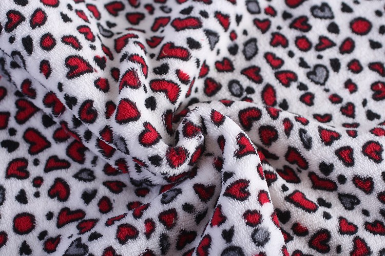 China suppliers Coral Fleece Fabrics customize polyester knit printed fabric