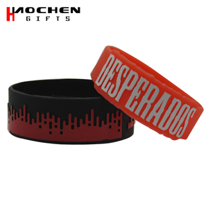 Top factory 1 inch silicone wristband for low price gifts