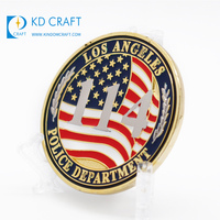 High quality custom 3D enamel gold plated star commemorative us military challenge coins