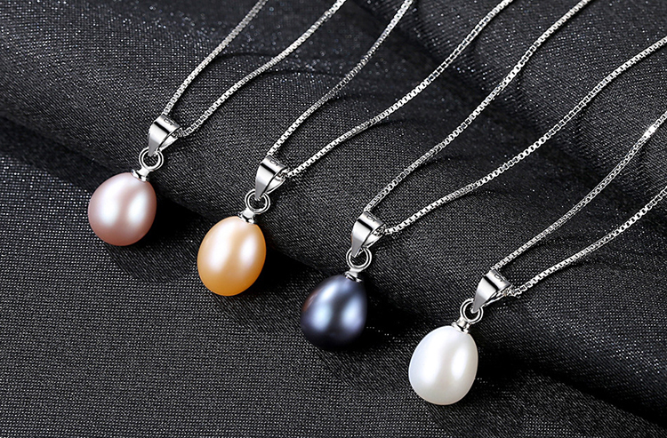 Trendy Freshwater Pearl Necklace 925 Sterling Silver Jewelry for Women Necklace