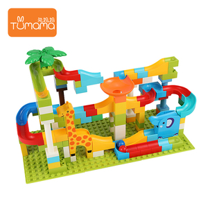 143PCS construction education building blocks toys ABS marble run rolling track Building blocks