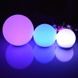 Waterproof indoor/outdoor Colorful Led Ball For Beach/party/event/wedding,rubber/silicone ball,durable,bright /lighting