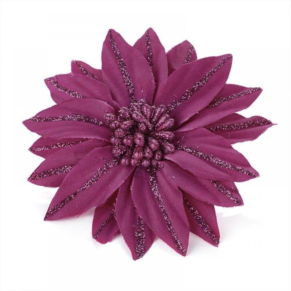 Buy Pink Glitter Design Flower Hair Beak Clip Slide Fascinator In