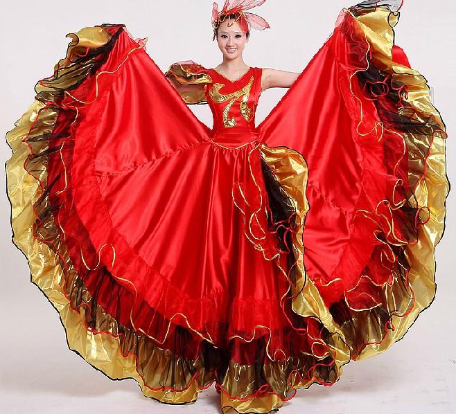 9d7ff7810a49 2019 Women Flamenco Dance Dress Adult Paso Doble Dance Dress ...