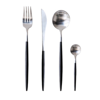 WB-MY304-BS Cutlery set of stainless steel 304 and 420 flatware with black painting handle