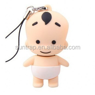 Stock Products Status Lovely Baby Shape usb flash drive