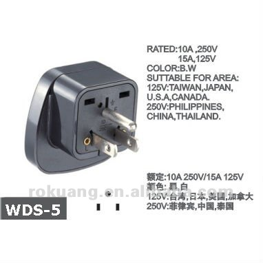 Wds-5 Mutil-socket To Taiwan,Usa Travel Adapter,All In One Travel ...