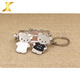 Matching Couple Bear keychain Clean metal design keychain