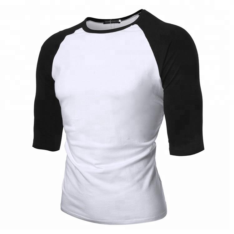 Mens Raglan T Shirt 3//4 Sleeve Scoop Bottom Slim Curved Hem Baseball Tee Galaxy