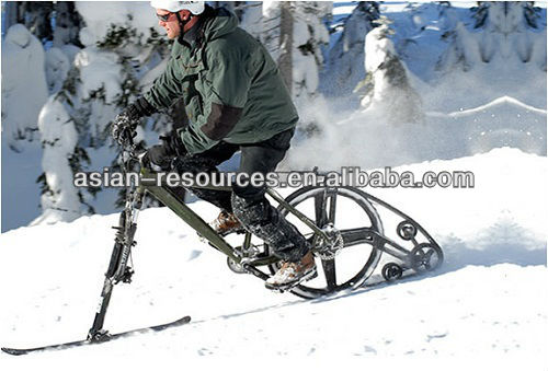 Skis Bicycle Skis Bike Kits K-track skis track wheel Convert bike to snow bike