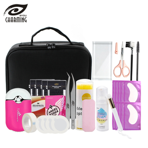 Profession eyelash extension kit for professional beautician eyelash  extension tool kit bag