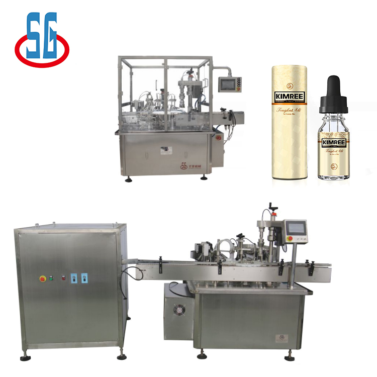 SG High Precision 10Ml Bottle Filling And Capping Machine Electronic Cigarette/ Eliquid Filling Machine|