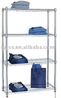 Industrial Durable stainless steel Chrome Wire rack,stationary chrome warehouse wire shelving